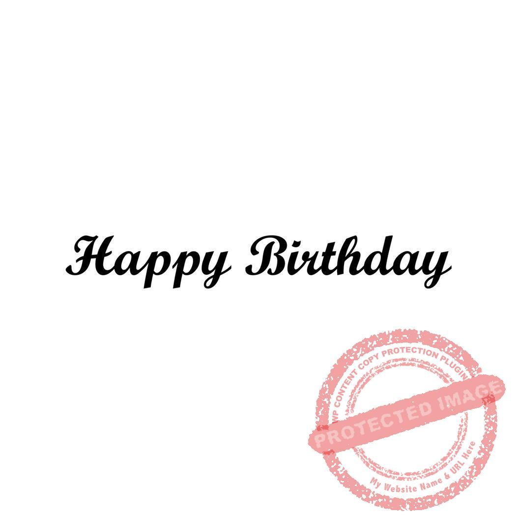 Happy Birthday (small Script) T1-18 #B > Peddlers Den