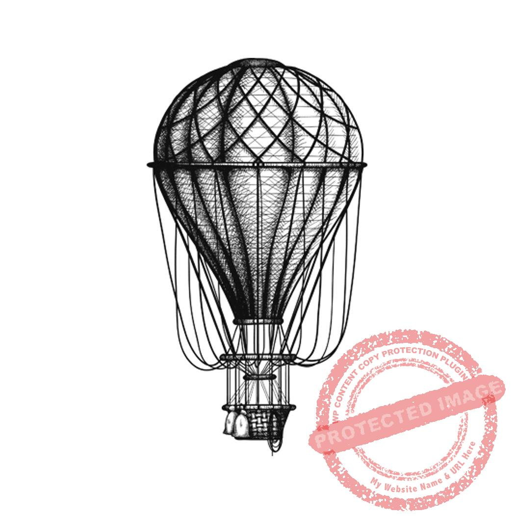 Vintage Hot Air Balloon T6-147 #C > Peddlers Den